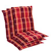 Prato, polstry, čalounění na křeslo, nízké opěradlo, polyester, 50 x 100 x 8 cm Červená | 3 x sedák