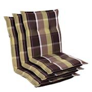 Prato, oblazinjenje, oblazinjenje naslanjača, nizek hrbtni naslon, poliester, 50x100x8cm Green Patterned | 3 x sedišča
