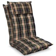 Sylt Dyna fåtöljdyna högryggad huvudkudde polyester 50x120x9cm Grön / gul | 2 x sittdyna
