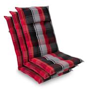 Crveno / Crno | 3 x jastuk sjedala