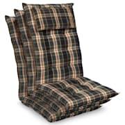 Sylt, polstr, čalounění na křeslo, vysoké opěradlo, polštář, polyester, 50 x 120 x 9 cm Zelená / Žlutá | 3 x sedák