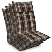 Sylt coussin de fauteuil appuie-tête pour dossier haut Polyester 50x120x9cm Vert / jaune | 4 x coussin de siege