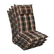 Sylt Dyna fåtöljdyna högryggad huvudkudde polyester 50x120x9cm Grön / gul | 4 x sittdyna