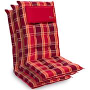 Sylt, blazina, blazina za naslonjač, visoki naslon, blazina za glavo, poliester, 50x120x9 cm Rdeča Plaid | 3 x sedišča