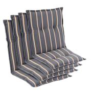 Prato, oblazinjenje, oblazinjenje naslanjača, nizek hrbtni naslon, poliester, 50x100x8cm Zeleno / Rumena | 4 x sedišča