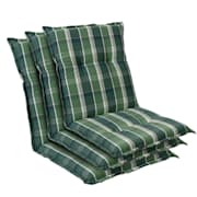 Prato, oblazinjenje, oblazinjenje naslanjača, nizek hrbtni naslon, poliester, 50x100x8cm Zelena | 3 x sedišča