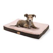 Balu Hundebett Hundekissen | waschbar | orthopädisch | rutschfest | atmungsaktiver Memory-Schaum | Größe S (72 x 8 x 50 cm) Beige | Größe: S