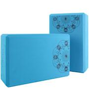 Bindo Essential Yoga Block, klocek do jogi, zestaw 2 sztuk, 22,5 x 7,5 x 154,5 cm  Kluczowy