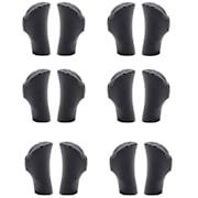 Lugo, rezervni krajevi, 10 mm, grubi profil, polukružni, gumeni, univerzalne veličine 2er-Set