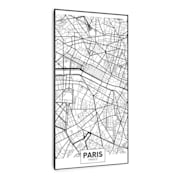Wonderwall Air Art Smart Infrarotheizung Stadtplan Paris 60x120cm 700W 60 x 120 cm