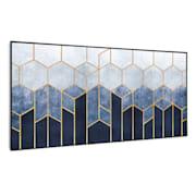 Wonderwall Air Art Smart Infrarotheizung Blaue Linie 120x60cm 700W 120 x 60 cm