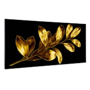 Wonderwall Air Art Smart Infrarotheizung Goldenes Blatt 120x60cm 700W 120 x 60 cm
