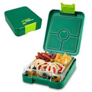 schmatzfatz junior snackbox 4 vakken 18 x 15 x 5 cm (BxHxD) Groen