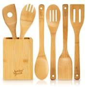 Souprava vařeček s boxem, 6dílná souprava, trvanlivá, lehká, bambus