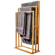 Закачалка за кърпи, 3 лоста за кърпи, 55 х 100 х 24 см., стъпаловиден дизайн, бамбук