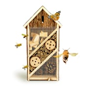 Domek dla owadów, wąski dach spiczasty, zawieszenie, nadaje się do całorocznego zamieszkania, drewno wąski dach
