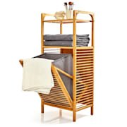 2 в 1 рафт, 2 места за съхранение, подвижна кошница, бамбук, памук