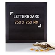 Buchstabentafel 25 x 25 cm Buchstaben, Symbole und Smileys Aufhängevorrichtung 25 x 25 cm