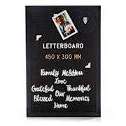 Buchstabentafel 30 x 45 cm Buchstaben, Symbole und Smileys Aufhängevorrichtung 30 x 45 cm