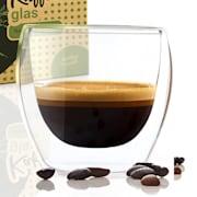 Kaffeeglas 100 ml Thermoglas handgemacht Borosilikatglas S