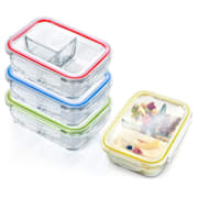 Lunchboxen mit Unterteilung 4er-Set Inhalt: je 1040 ml je 3 Fächer auslaufsicher