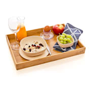 Taca do serwowania do łóżka, lekka, 42,5 x 4,5 x 29 cm, ekologiczna, bambus