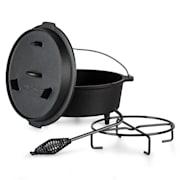 Guernsey, vrhunski lonec iz litega železa, 6.0 barbecue lonec, lito železo, nogice, velikost M/6 qt/5,7 l ca. 7 Ltr / 6 qt