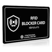 karta blokująca RFID z sygnałem zakłócającym NFC, bardzo cienka, format karty czekowej Czarny