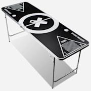 Baseliner Beer Pong Tisch Set Audio Tragegriffe Ballhalter 6 Bälle Spieltisch und Becher