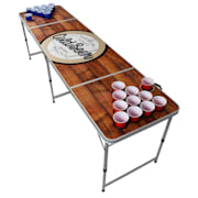 Backspin Beer Pong, stol, set, drveni, pretinac za led, 6 loptica, 50 šalica, 50 shots Play stol i šalica (crvena / plava)