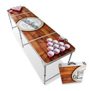 Backspin Beer Pong, stol, set, drveni, pretinac za led, 6 loptica, 50 šalica, 50 shots Igrajte stol, šalicu i šalicu
