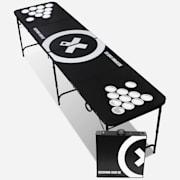 Baseliner Beer Pong Tisch Set Audio Cup Hole Black Line Tragegriffe 6 Bälle Spieltisch und Becher (rot/blau)