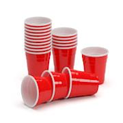 Nadal, crvene štamplice za zabavu, 2 oz, 50 ml, čaše za alkohol, višekratne, čvrste 50 komada