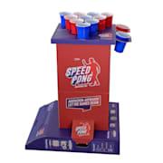 Bounce, speedpongový hrací stĺp, kompaktný kartón, 6 modrých a červených pohárov, vrátane 2 loptičiek