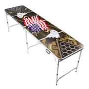 Backspin, set stola za beer pong, američki orao, ručke, držač loptica, 6 loptica Tablica za igru