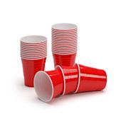 Nadal 10 Oz Rote Party Becher US-College Style 295 ml wiederverwendbar 250 Stück