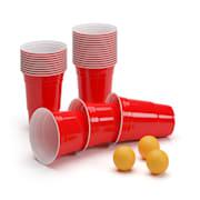 Andrews Red Beer Cups 473 ml (16 Oz) robust inkl. Bällen und Regelwerk 2 Turnierplätze