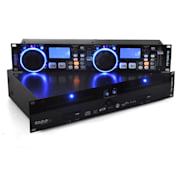 Reproductor de CD dual Ibiza Global DJ scratch MP3 SD USB