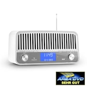 Nizza DAB+ retroradio Bluetooth FM AUX 2.1 subwoofer valkoinen