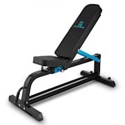 Ad Just, čierna, 300 kg, lavička na činky, prispôsobiteľná rovná lavička, oceľ