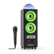 Discostar Green draagbare 2.1 -bluetooth luidspreker USB batterij LED micro Groen