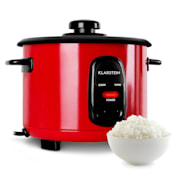 OneConcept Osaka rijstkoker rood 500W 1,5L warmhoudfunctie
