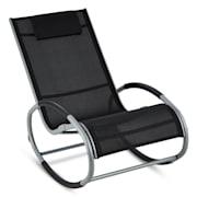Retiro люлеещ се стол, алуминий, полиестер, черен цвят