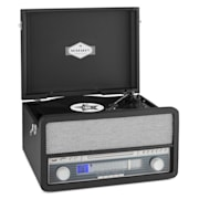 Belle Epoque 1907 Retro Audio System Record Player Bluetooth Cassette USB CD AUX Black