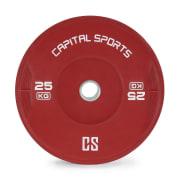 NIPTON, bumper disc, greutate, gumă întărită, 1 x 25 kg, culoare roșie