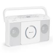 Boomtown USB, boombox, CD prehrávač, FM rádio, MP3, prenosné kufríkové rádio, biely