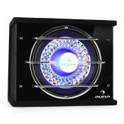 "bass box subwoofer 10"" 600W luce neon car auto sub 25 cm (10"")"
