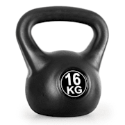 Kettlebell 16kg Training & Fitness Weight - Black