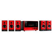 V51 système surround actif 5.1 FM AUX USB SD -rouge