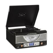 TT-1062E Vintage-Stereoanlage Schwarz USB SD MP3 Schwarz